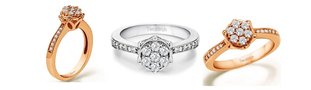 Solitaire Promise Ring with Accents