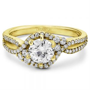 Solitaire Promise Ring with Side Stones