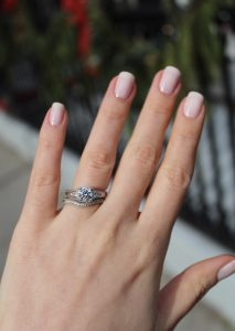 How To Wear Your Wedding And Engagement Rings Twobirch Style