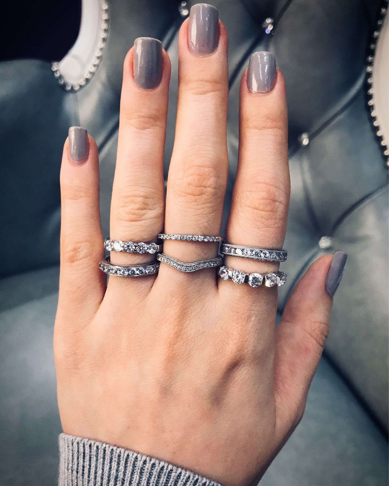 Big Trends in Wedding Bands, Layering and Ring Guards