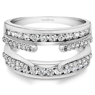 0.5 Ct. Combination Cathedral and Classic Ring Guard